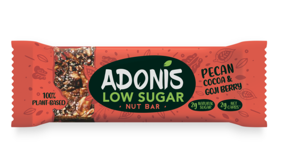 Adonis Low Sugar Pecan Cocoa and Goji Berry