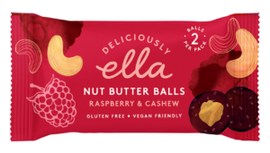 Deliciously Ella Nut Butter Ball Raspberry and Cashew