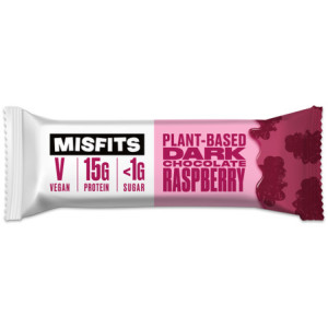 Misfits Vegan Low Sugar Protein Dark Chocolate Raspberry