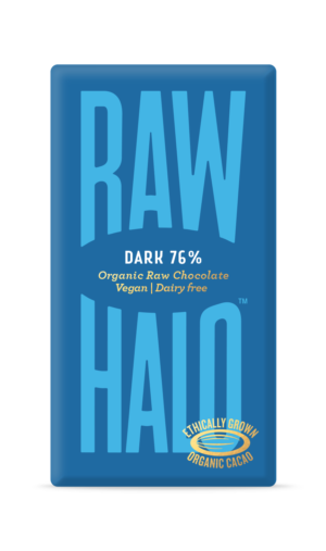 Raw Halo Dark 76% Organic Raw Chocolate 35g