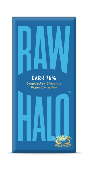 Raw Halo Dark 76% Organic Raw Chocolate 70g