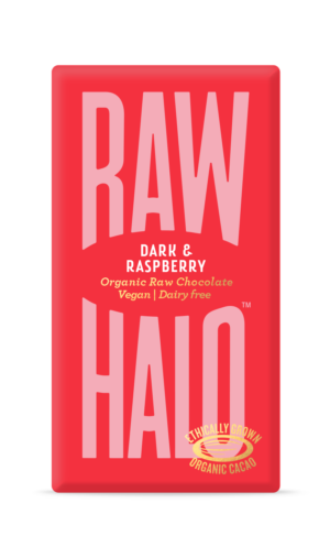 Raw Halo Dark & Raspberry Organic Raw Chocolate 35g