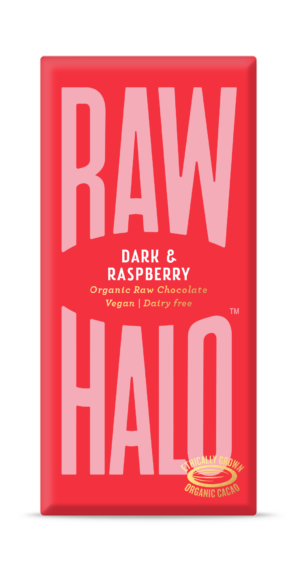 Raw Halo Dark & Raspberry Organic Raw Chocolate 70g
