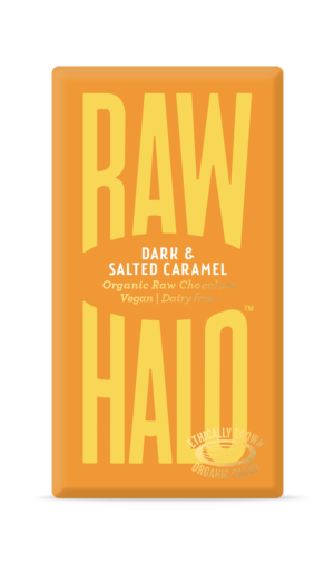 Raw Halo Dark & Salted Caramel Organic Raw Chocolate 35g
