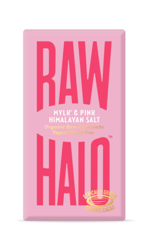 Raw Halo Mylk & Pink Himalayan Salt Organic Raw Chocolate 35g