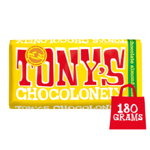 Tony's Chocolonely Milk Chocolate 32% Almond, Honey and Nougat