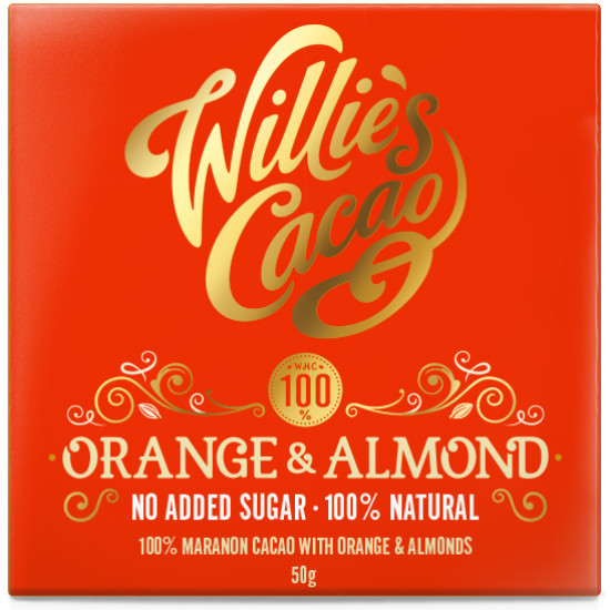 Willie's Cacao Orange and Almond No Added Sugar