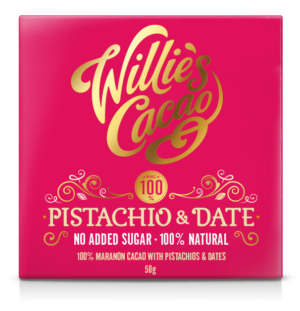 Willie's Cacao Pistachio and Date No Added Sugar